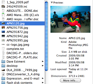 Compressed file size